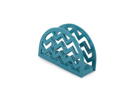 Picture of Chevron Cast Iron Napkin Holder, Teal