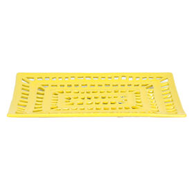 Picture of Pierced Yellow Ceramic Tray