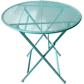 Picture of Mesh Folding Bistro Dining Patio Table- 28-in