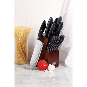 Picture of Oster Huxford 14 Piece Stainless Steel Mahogony Knife Block