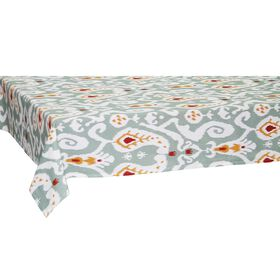 Picture of Gray Ikat Pattern Table Cloth- 60 X 84 in.