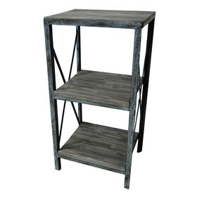 Picture of Wood and Metal Three Tier Shelf - 35 X 19