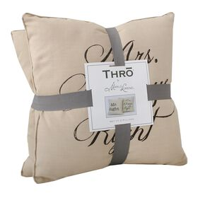 Picture of Mr. Right, Mrs. Always Right Pillow Set of 2 - 16-in.