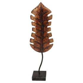 Picture of Brown Metal Leaf on Stand - 21 in.