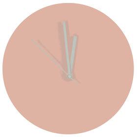 Blush Pink Pantone Color Clock- 12 in.
