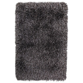 Picture of Silver and Black Senses Shag Accent Rug 27 X 42-in