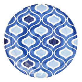 Picture of Indigo Melamine Salad Plate - Morrocan Tile