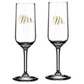 Picture of SET/2 MR/MRS CHAMPAGNE FLUTE