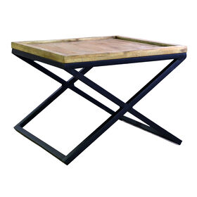 Picture of Mango & Iron Square X-Leg Side Table