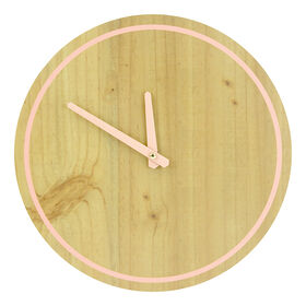 Picture of AC 12X12 MDF CLOCK PNK OUTLINE