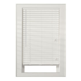 "Picture of 2"" Faux Wood Blinds- White 23x72-in"