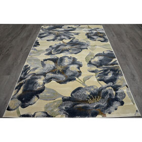 Picture of Cream and Grey Floral Newbury Rug