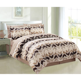 Picture of Neutral Kamron Bed in a Bag Set Queen