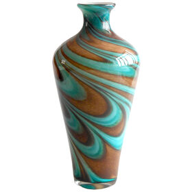 Picture of Brown & Blue Glass Vase- 13.5 in.
