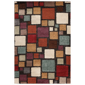 Picture of B275 Black and Multicolored Mesa Harding Rug