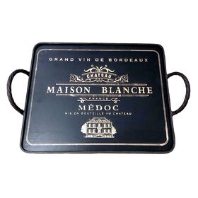 Picture of Black Metal Wine Tray 18-in