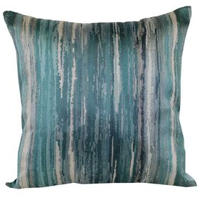 Picture of ROY-G-BIV 18  PILLOW AQUA