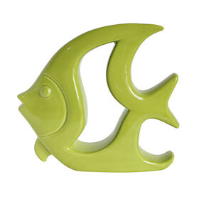 Picture of Green Ceramic Angel Fish- 8.7 in.