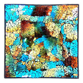 Picture of Blue Square Mosaic Plate