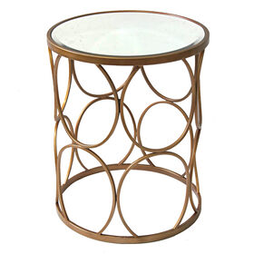 Picture of Metal Glam Glass-Top Table 17X21-in