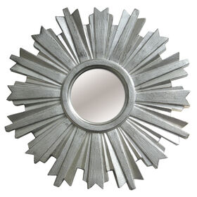 Picture of 18-in Beveled Silver Sunburst Mirror