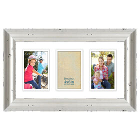 Picture of 9 X 17-in Double Matted Whitewash Collage Frame