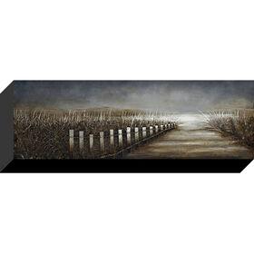 Picture of Coastal Scene Canvas Art, 12x36-in.
