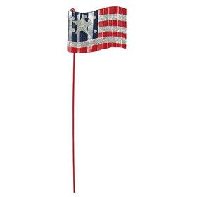 Patriotic Yard Stake Flag- 15-in