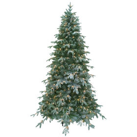 Picture of D26 7.5-ft Flocked Christmas Tree with 400 Lights