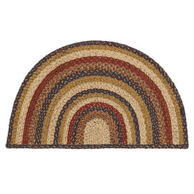 Picture of Blue Braided Jute Hearth Accent Rug- 24x40 in.