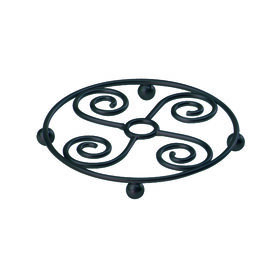 Picture of Scroll Metal Trivet, Black