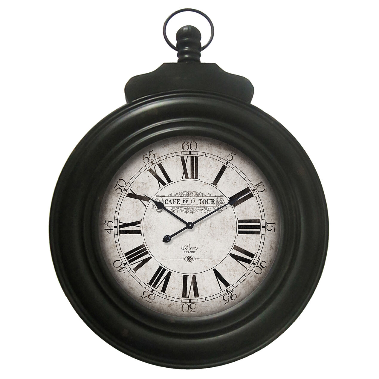 24 X 33-in Black Pocket Watch Clock - At Home