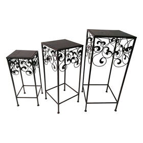 Picture of Square Scroll Side End Table- Small
