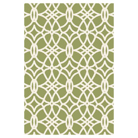 Picture of Green and Ivory Othello Tributary Rug 8 X 10 ft