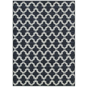 Picture of D200 Navy Exeter Ogee Moroccan Rug