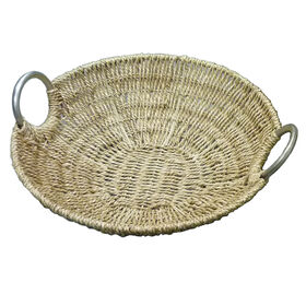 Picture of Seagrass Tray with Metal Handles 14-in