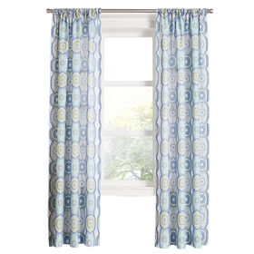 Picture of Lapis Daphne Printed Sheer Window Curtain Panel 84-in