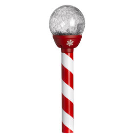 Picture of Solar Crackle Ball Candy Cane PDQ
