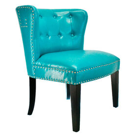 Picture of Teal Bonded London Studded Chair