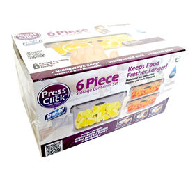 Picture of 6 Piece Press-N-Click Food Storage Set