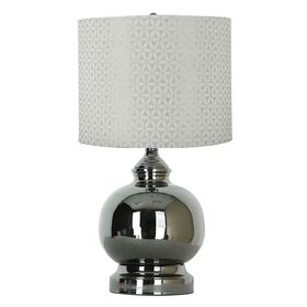 Picture of Round Gun Metal Steel Lamp 17-in (shade sold separately)