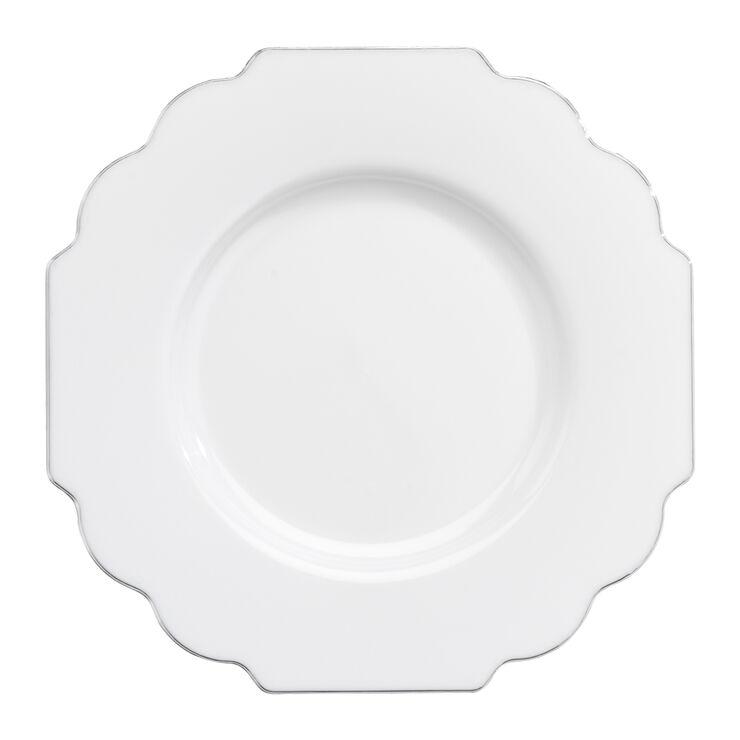 White Baroque Salad Plates - set of 10