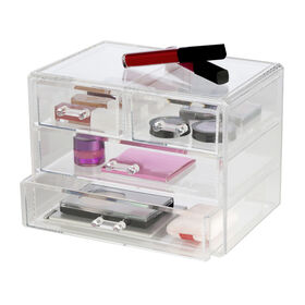 Picture of Large 4 Drawer Stackable Cosmetic Organizer - Clear