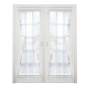 Picture of Emily Voile Door Panel- White 72-in