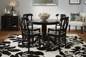 Picture of B86 Black and White Damask Rug