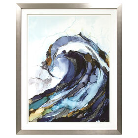 Picture of Blue Liquid Wave - 33 x 41-in