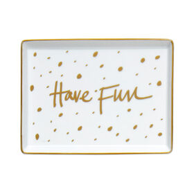 Picture of Have Fun Porcelain Tray 6x4.5-in