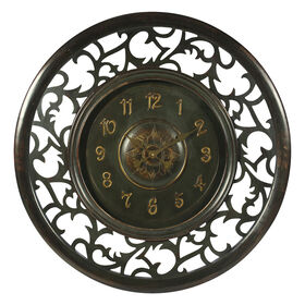 Picture of 36-in Ornate Carved Wood Clock