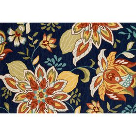 Picture of Layla Dark Blue Floral Accent Rug 27 X 45-in