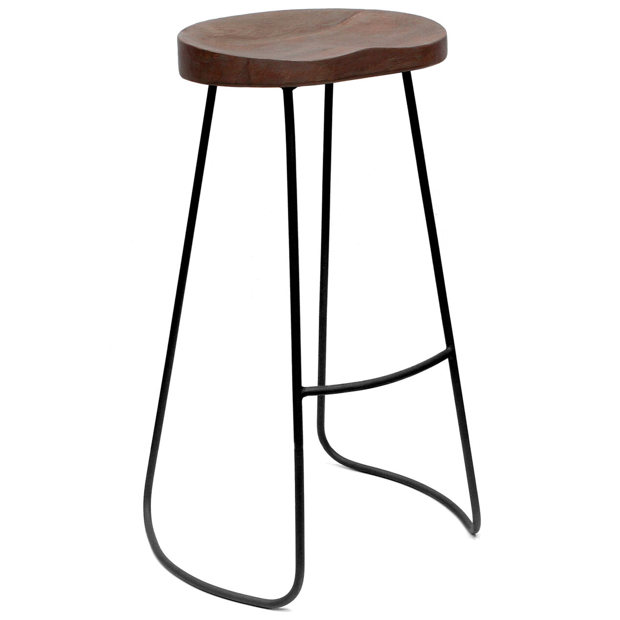 Gavin Barstool Chestnut Wood 30 in At Home